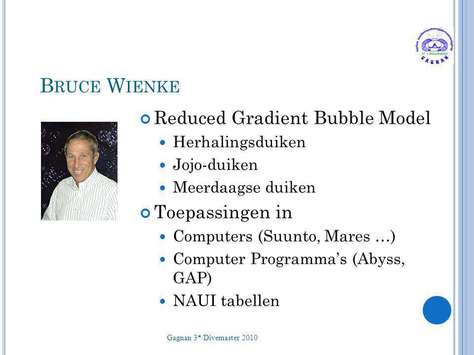 Bruce Wienke Reduced Gradient Bubble Model Toepassingen in