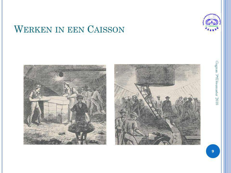 Werken in een Caisson Gagnan 3*/Divemaster 2010