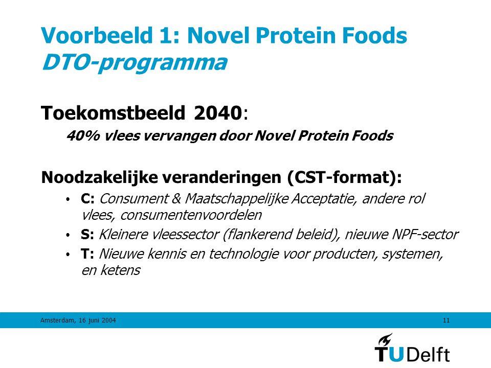 Voorbeeld 1: Novel Protein Foods DTO-programma