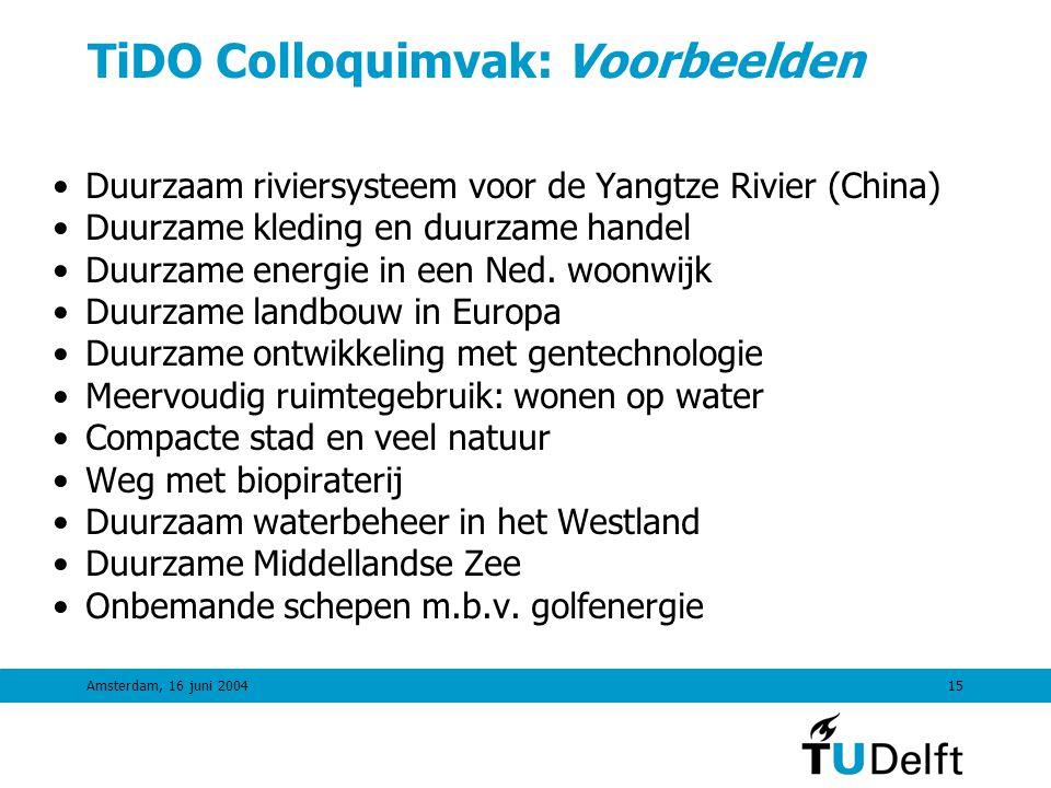 TiDO Colloquimvak: Voorbeelden