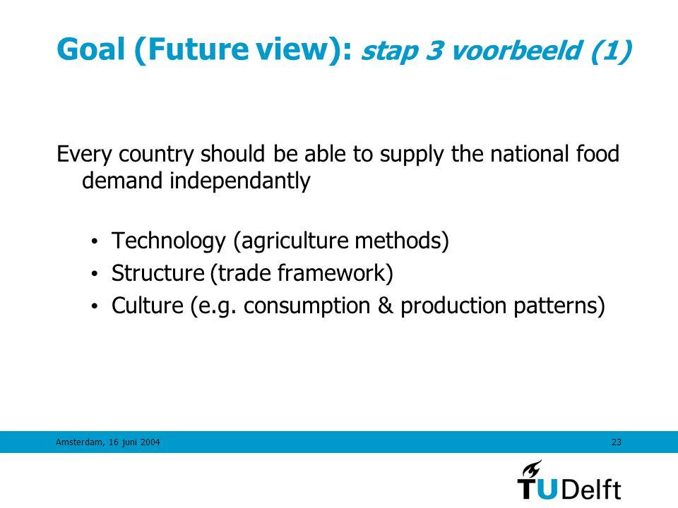 Goal (Future view): stap 3 voorbeeld (1)