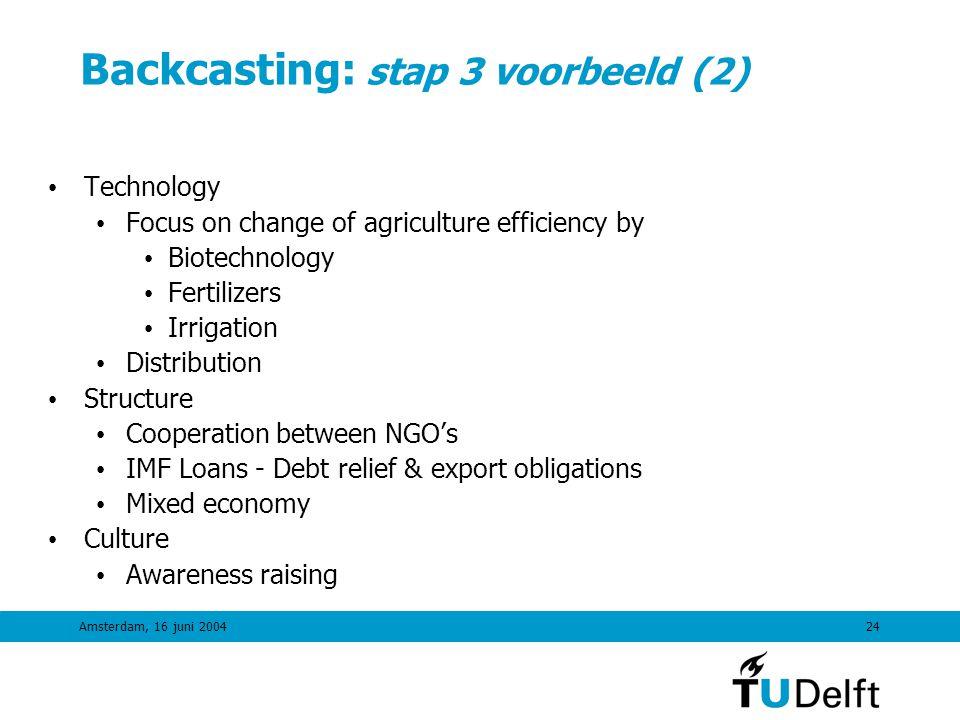 Backcasting: stap 3 voorbeeld (2)