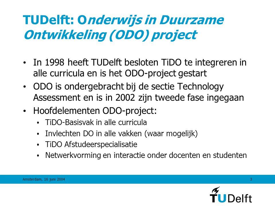 TUDelft: Onderwijs in Duurzame Ontwikkeling (ODO) project