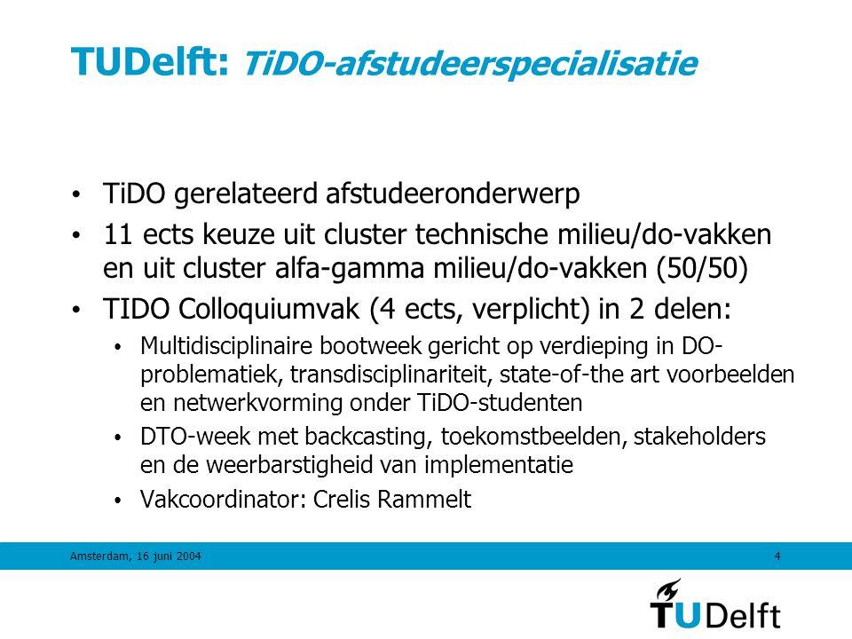 TUDelft: TiDO-afstudeerspecialisatie