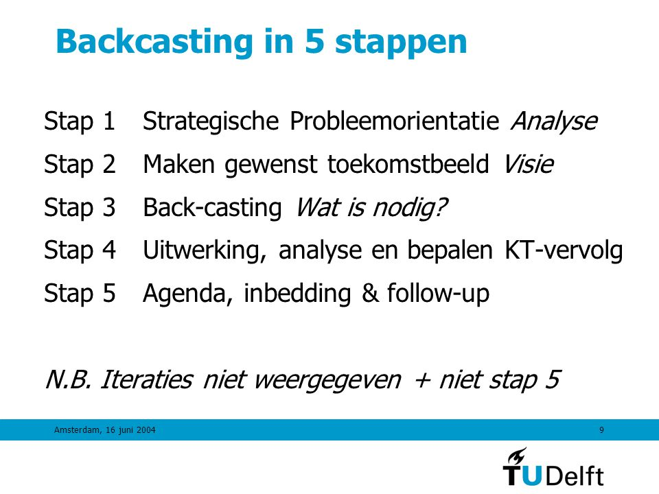 Backcasting in 5 stappen