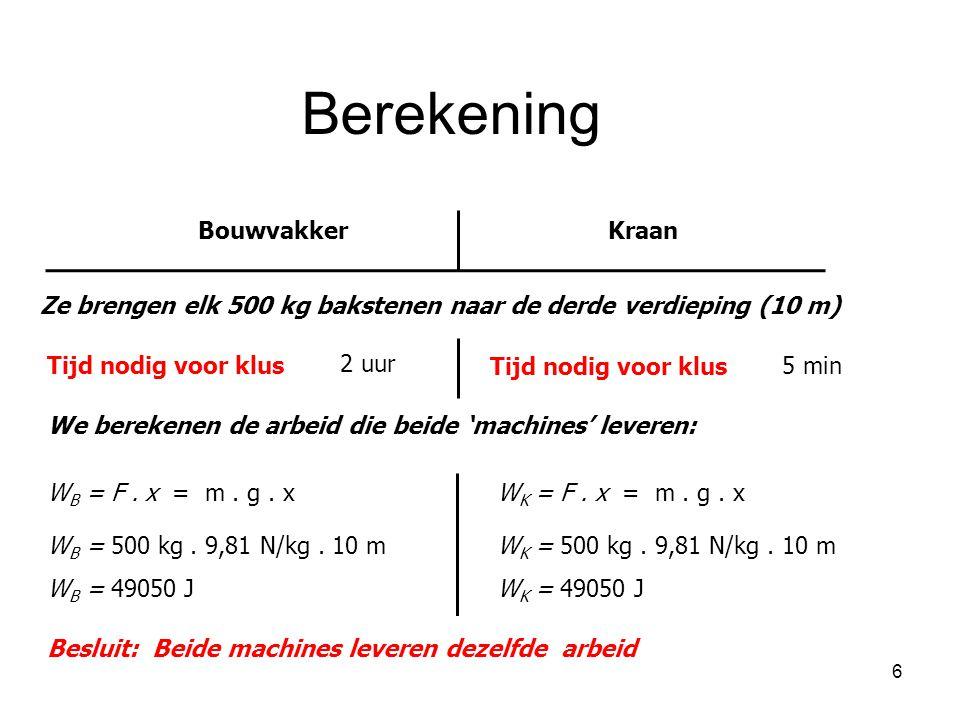 Berekening Bouwvakker Kraan