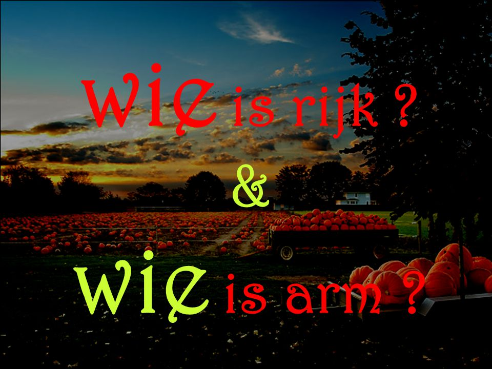 wie is rijk & wie is arm