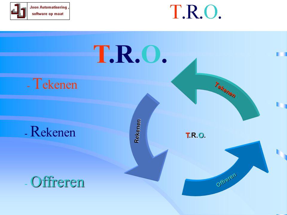 T.R.O. T.R.O. offerte - Tekenen - Rekenen - Offreren T.R.O. Tekenen