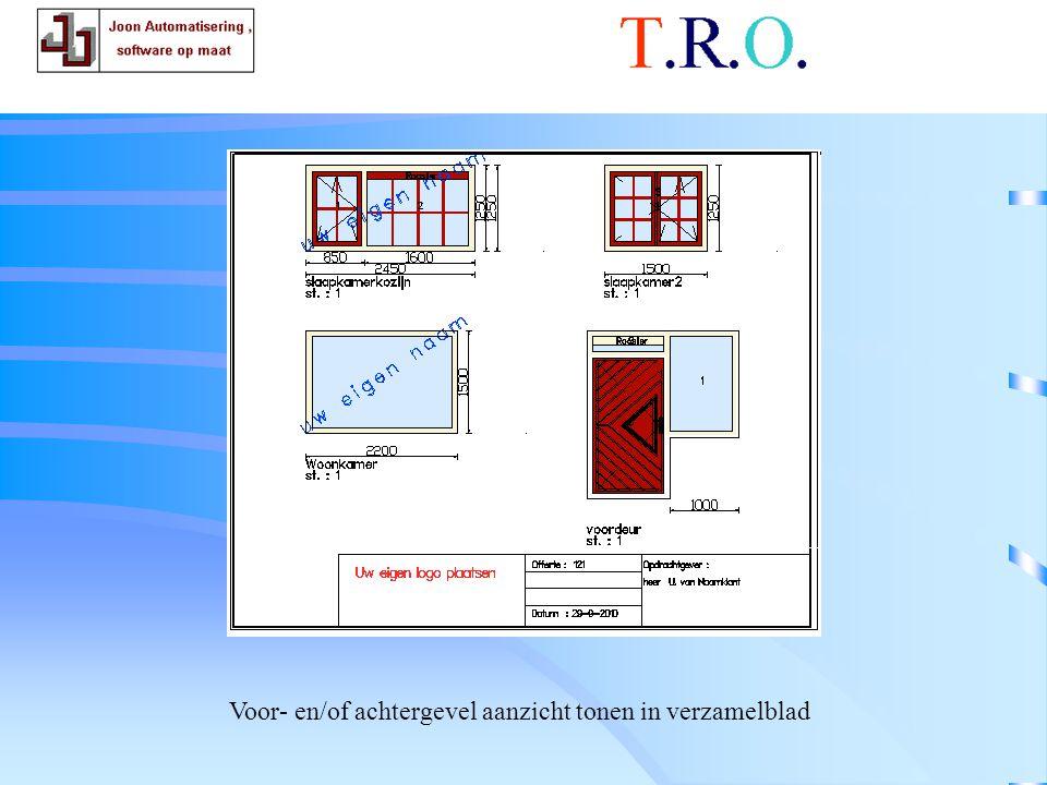 T.R.O. tekenblad voorgevel