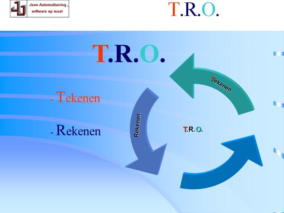 T.R.O. rekenen T.R.O. T.R.O. Tekenen Rekenen - Tekenen - Rekenen