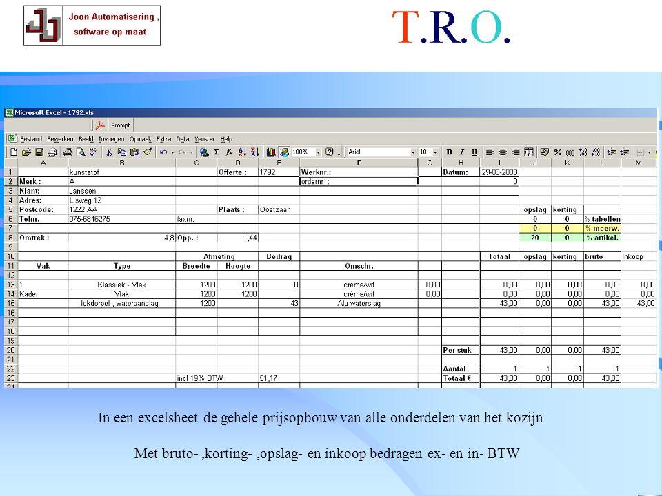 T.R.O. calculatie kozijnen
