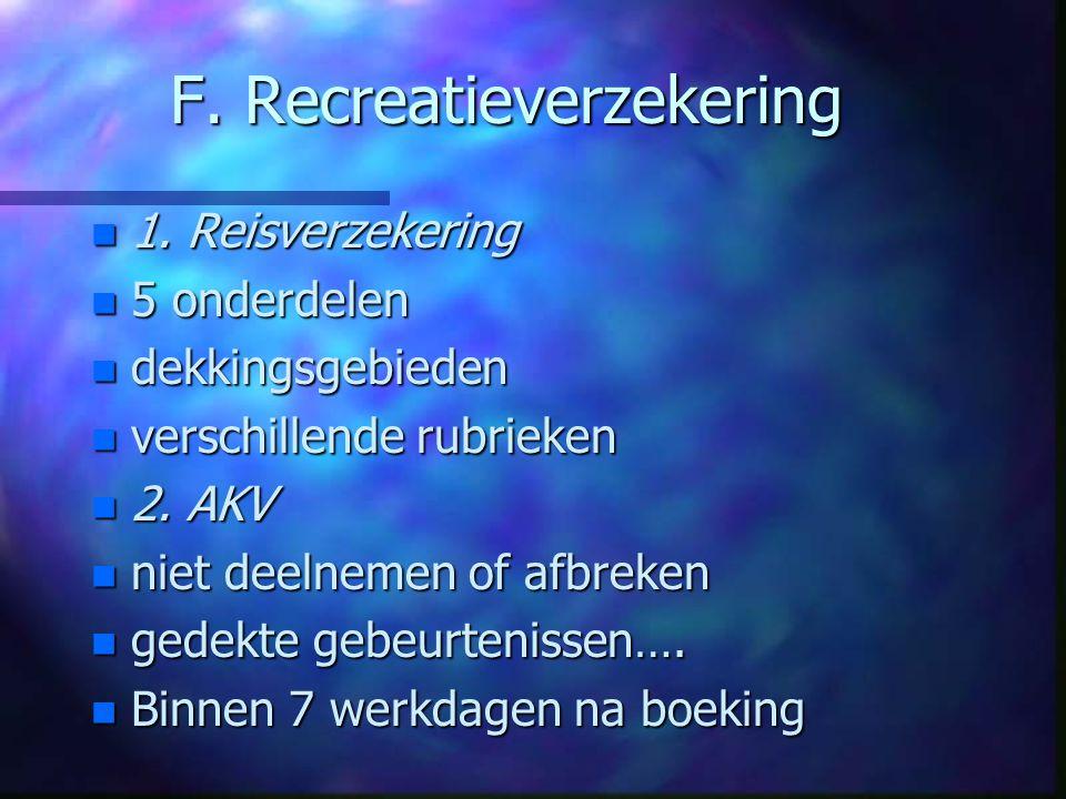 F. Recreatieverzekering