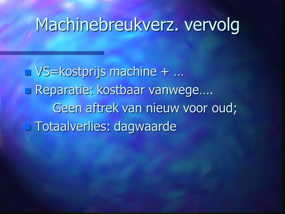 Machinebreukverz. vervolg