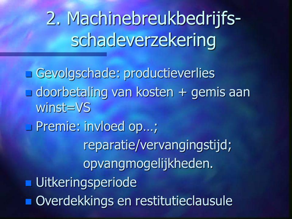 2. Machinebreukbedrijfs-schadeverzekering
