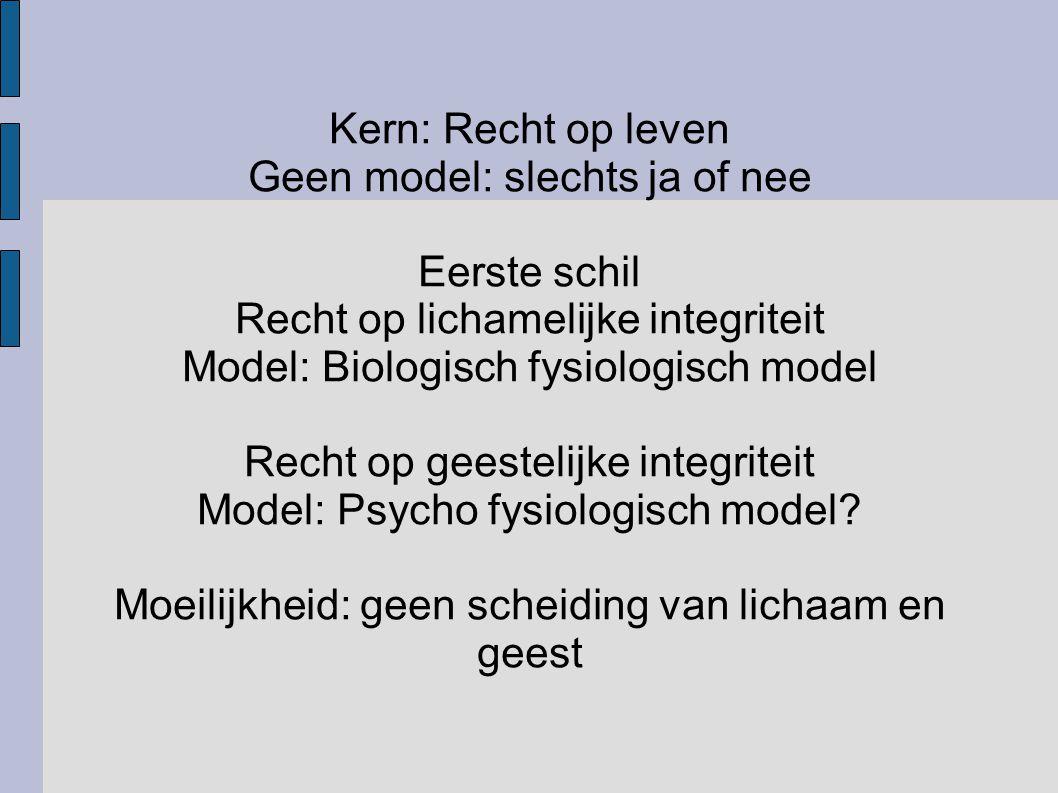 Geen model: slechts ja of nee Eerste schil
