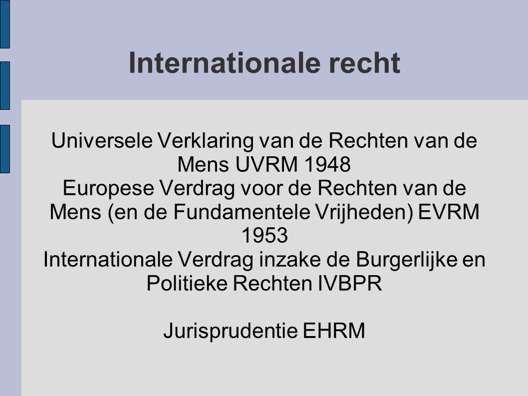 Universele Verklaring van de Rechten van de Mens UVRM 1948