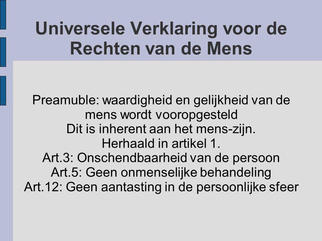 Universele Verklaring voor de Rechten van de Mens