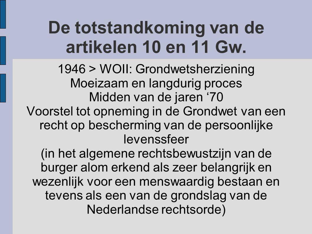 De totstandkoming van de artikelen 10 en 11 Gw.