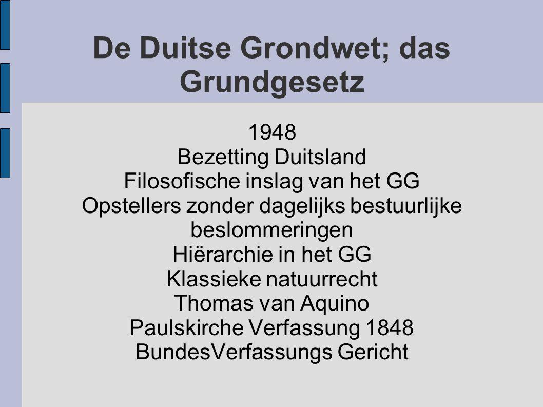 De Duitse Grondwet; das Grundgesetz