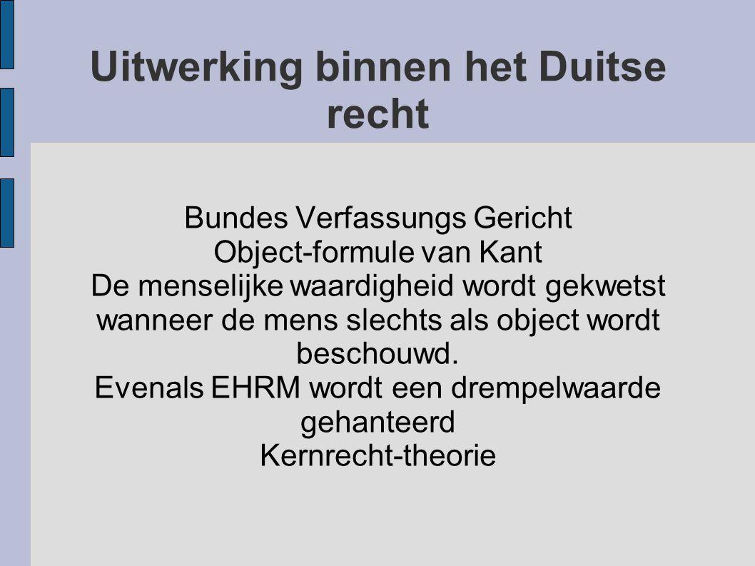 Uitwerking binnen het Duitse recht