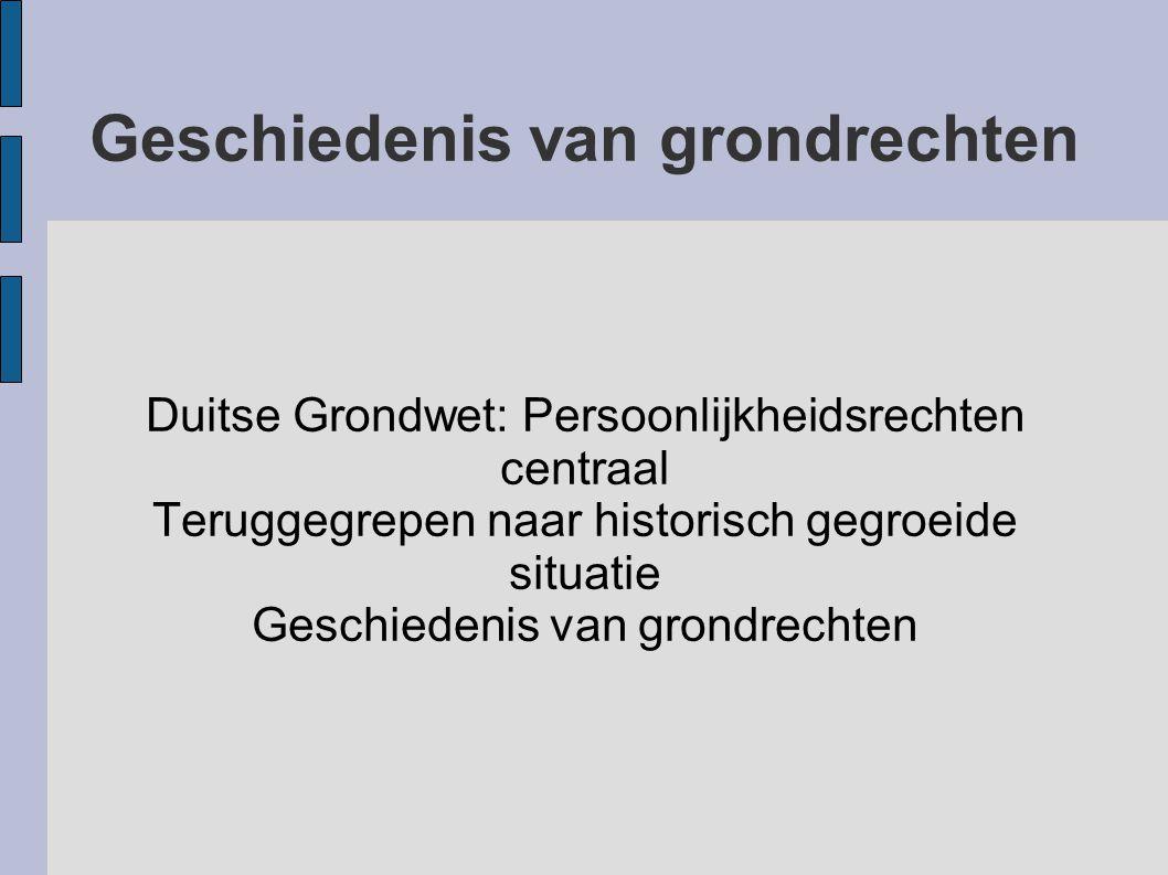 Geschiedenis van grondrechten