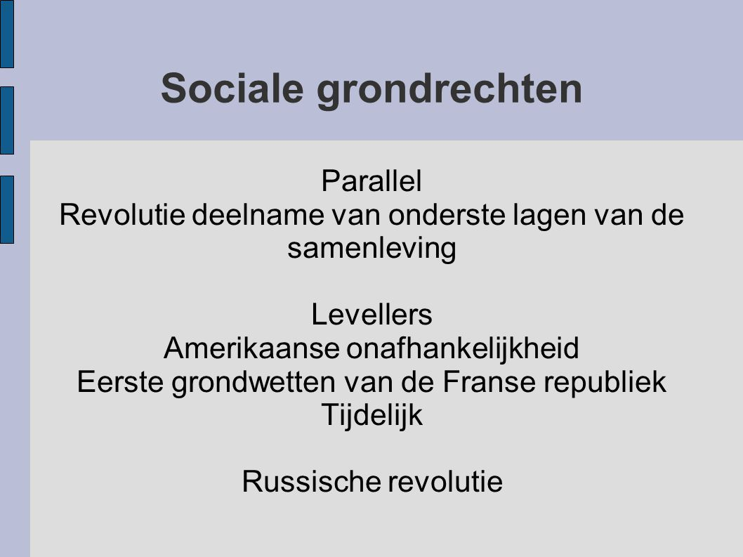 Sociale grondrechten Parallel