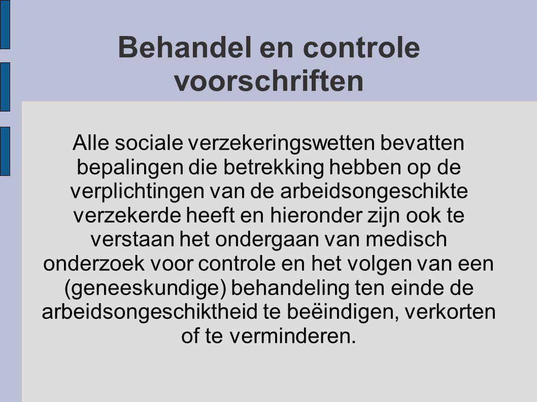 Behandel en controle voorschriften