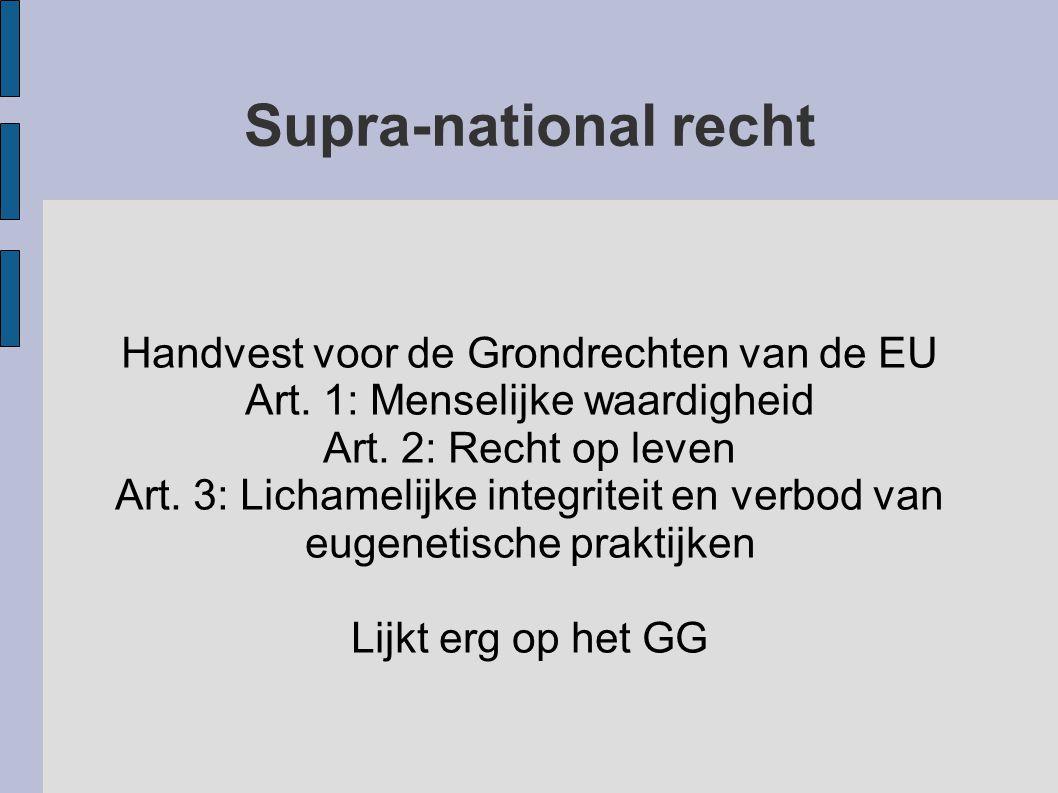 Supra-national recht Handvest voor de Grondrechten van de EU