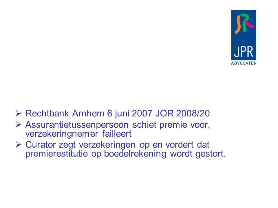 Rechtbank Arnhem 6 juni 2007 JOR 2008/20