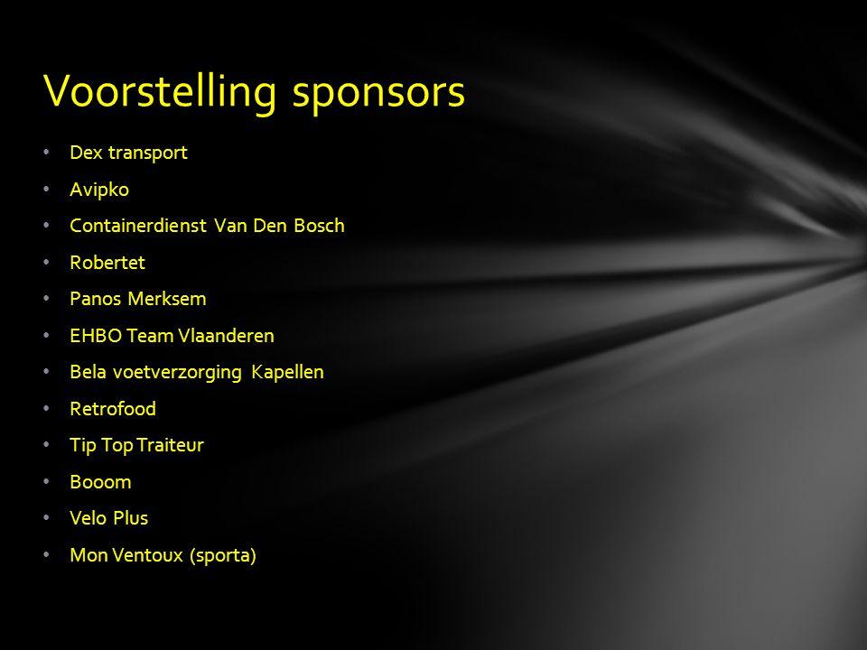 Voorstelling sponsors