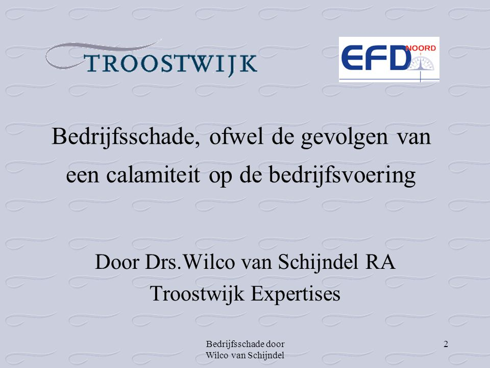 Door Drs.Wilco van Schijndel RA Troostwijk Expertises