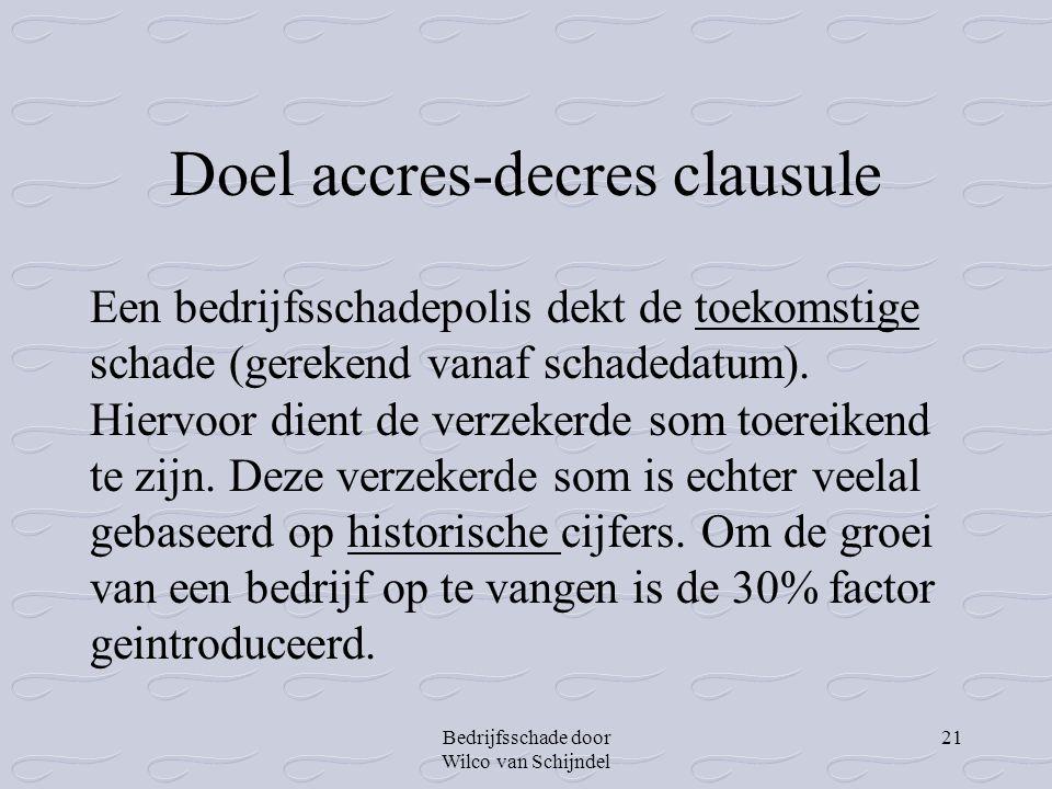 Doel accres-decres clausule