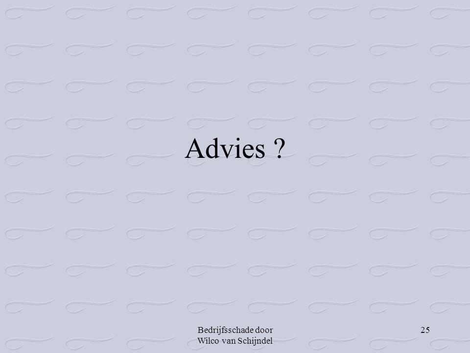 Advies Bedrijfsschade door Wilco van Schijndel