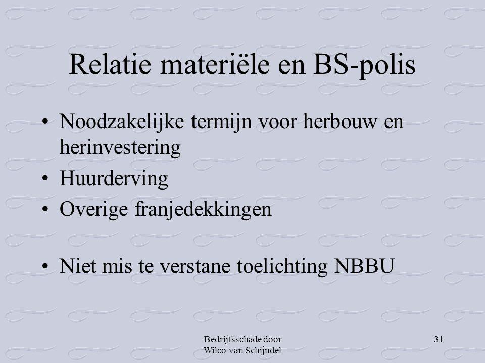 Relatie materiële en BS-polis