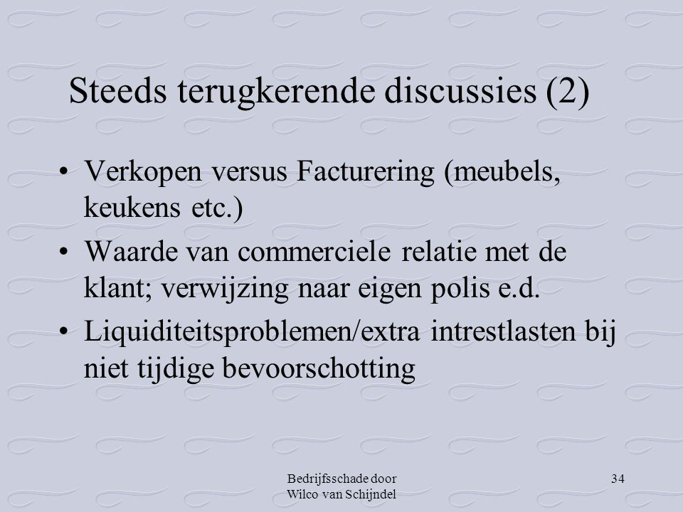 Steeds terugkerende discussies (2)
