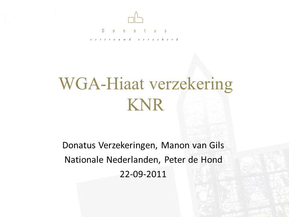 WGA-Hiaat verzekering KNR