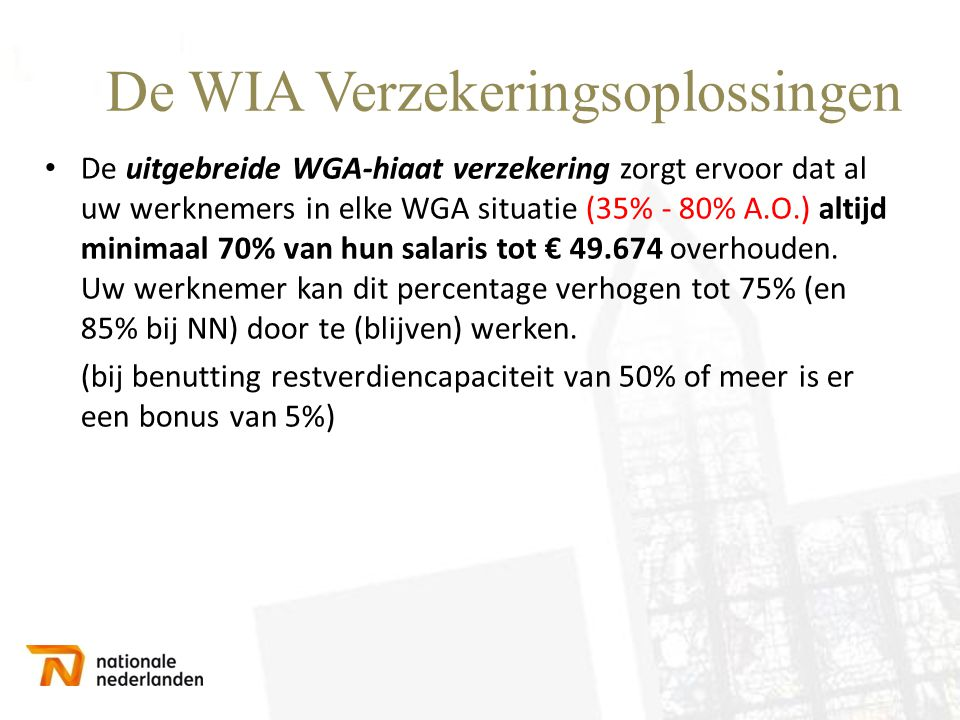 De WIA Verzekeringsoplossingen