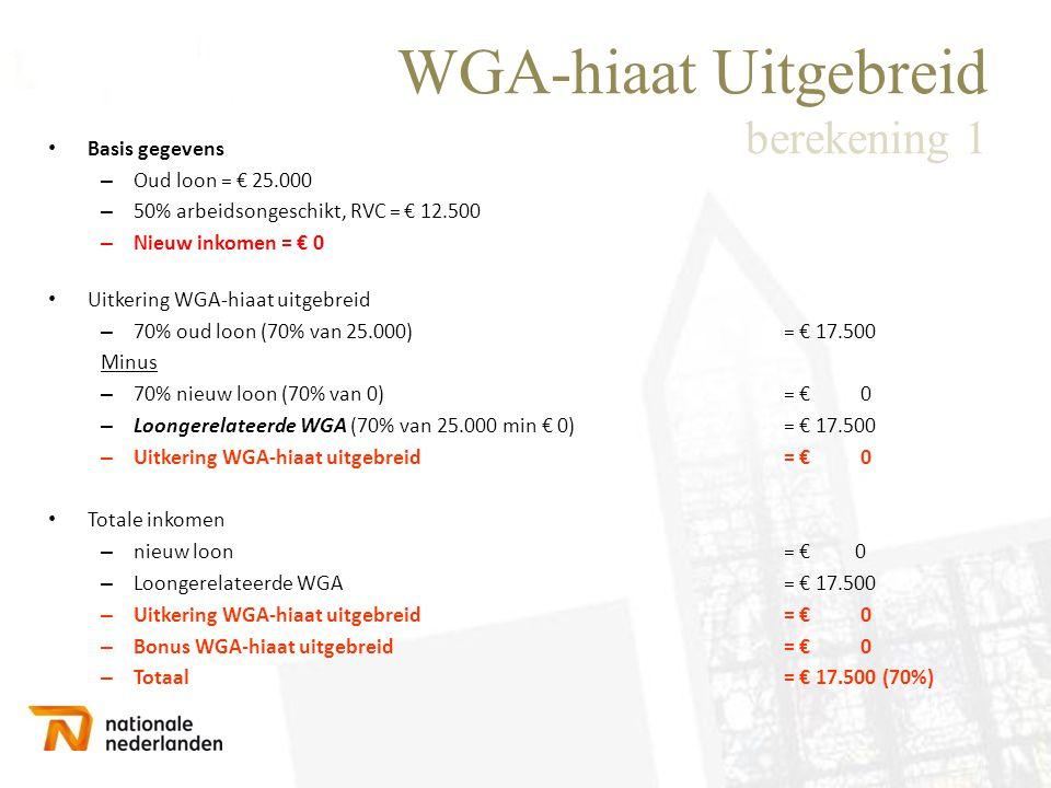 WGA-hiaat Uitgebreid berekening 1