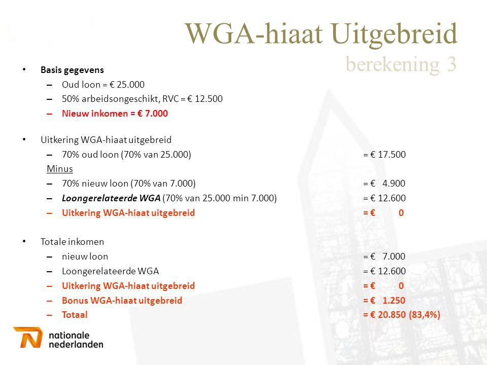 WGA-hiaat Uitgebreid berekening 3