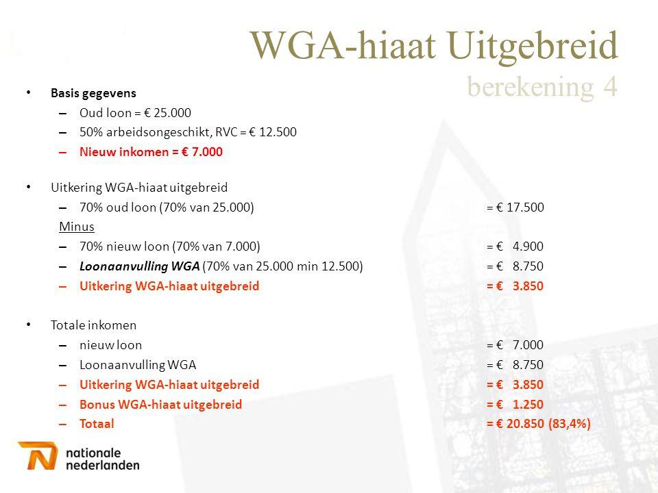 WGA-hiaat Uitgebreid berekening 4