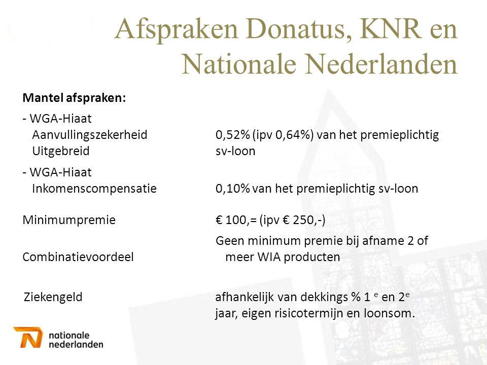 Afspraken Donatus, KNR en Nationale Nederlanden