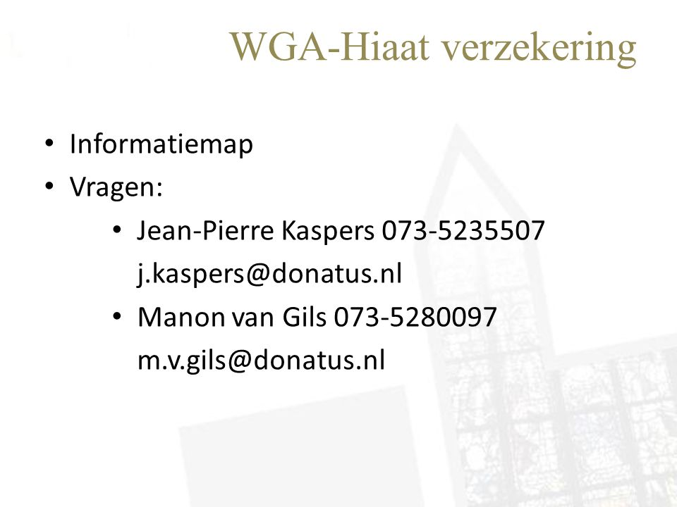 WGA-Hiaat verzekering