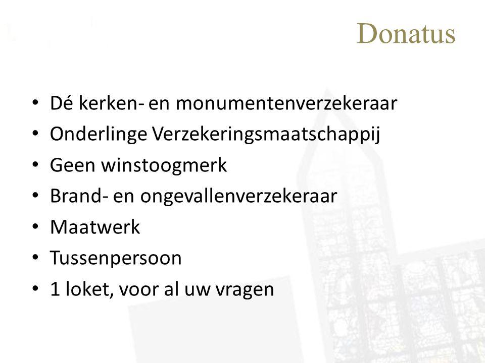Donatus Dé kerken- en monumentenverzekeraar