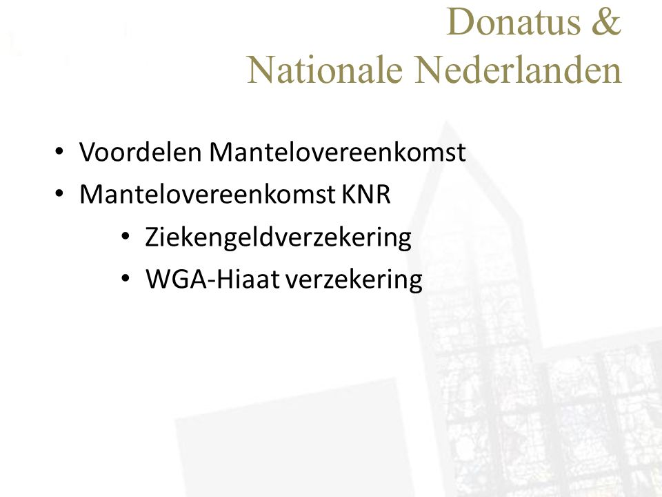 Donatus & Nationale Nederlanden
