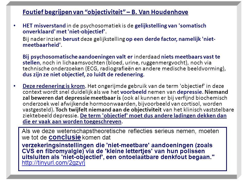 Foutief begrijpen van objectiviteit – B. Van Houdenhove