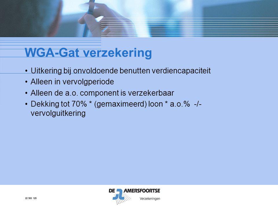 WGA-Gat verzekering Uitkering bij onvoldoende benutten verdiencapaciteit. Alleen in vervolgperiode.