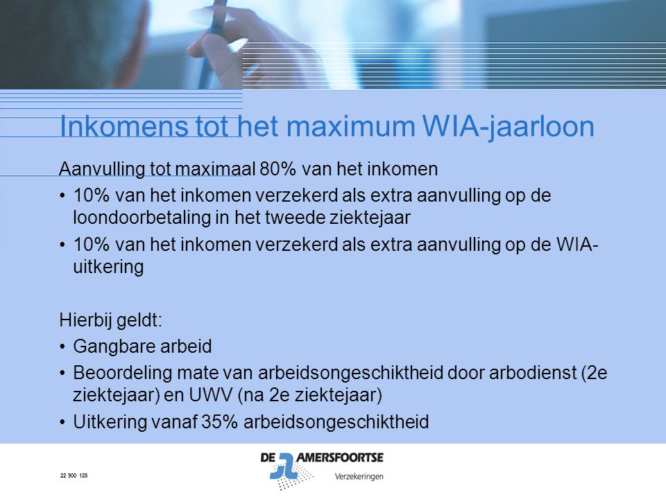 Inkomens tot het maximum WIA-jaarloon