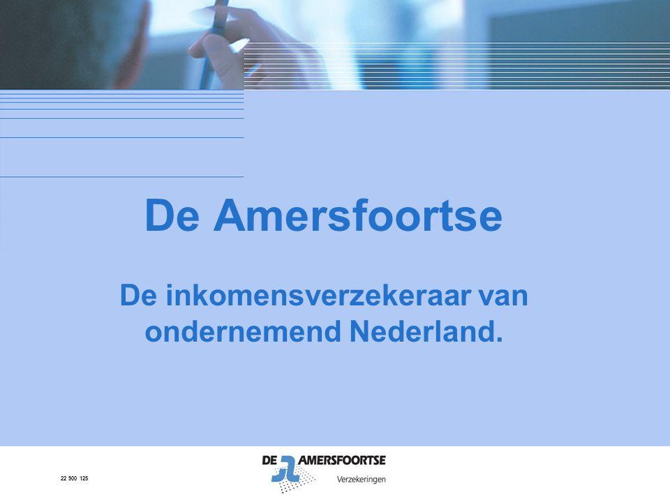 De Amersfoortse De inkomensverzekeraar van ondernemend Nederland.