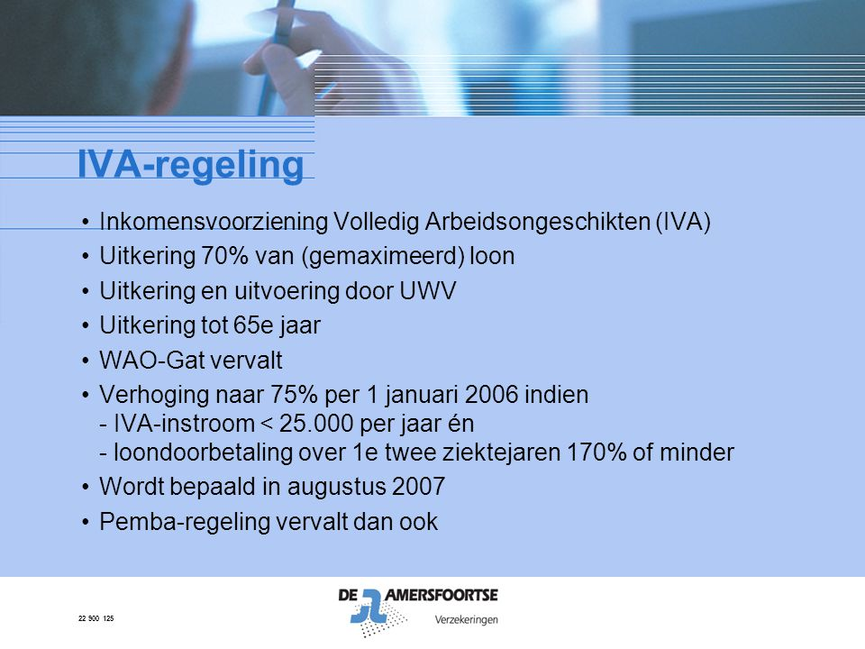 IVA-regeling Inkomensvoorziening Volledig Arbeidsongeschikten (IVA)