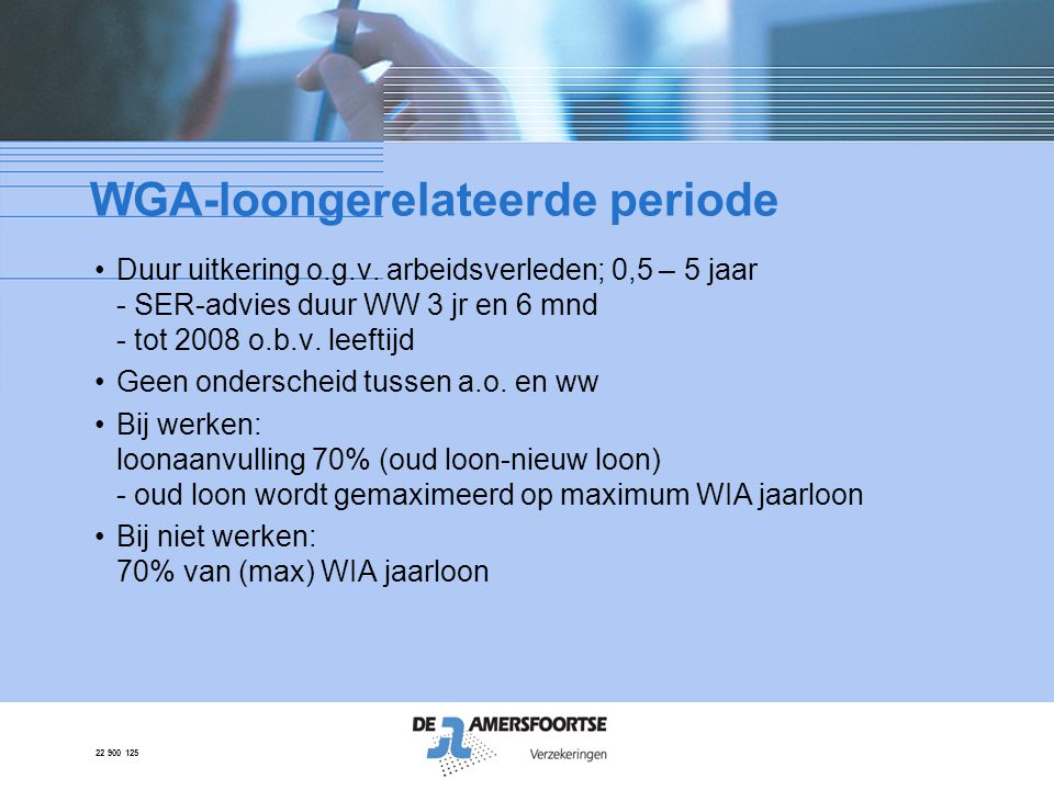 WGA-loongerelateerde periode